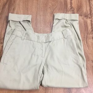 J. Jill Pinned Cropped Khaki Pants